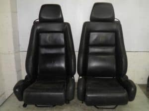 Front Black Leather Seats – Alfa Romeo 916 GTV Spider 1995-1998