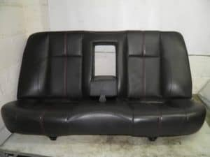 Rear Saloon Bench Seats Ti Black Leather Red Stitching – Alfa Romeo 156 Ti 2002-2005