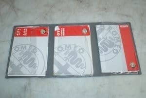 GTV Owners Manual Book Pack Phase 2 – Alfa Romeo 916 GTV 1998-2005